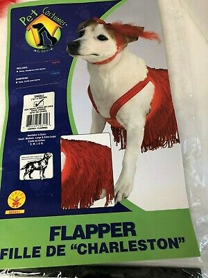 me Small 10-12 For Small Dogs or Cats Flapper Halloween Xmas (Flapper Kostüm Hund)