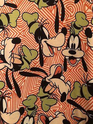 NWT Lularoe Disney Goofy Orange Irma Tunic Shirt Top - Size S -