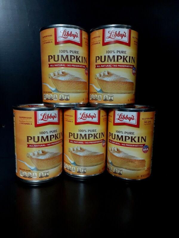 Pure Pumpkin 15 oz (5 Cans) Libbys Free Priority Shipping