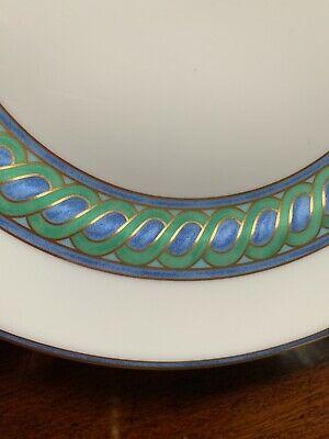 TORSADE BLEU by CHRISTOFLE Porcelain Salad Plate new unused