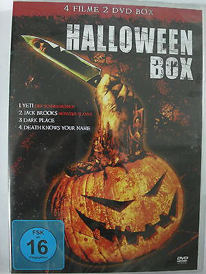 Halloween Box 4 Filme - Yeti, Monster Slayer, Death knows your Name, Dark Place - Halloween 4 Deaths