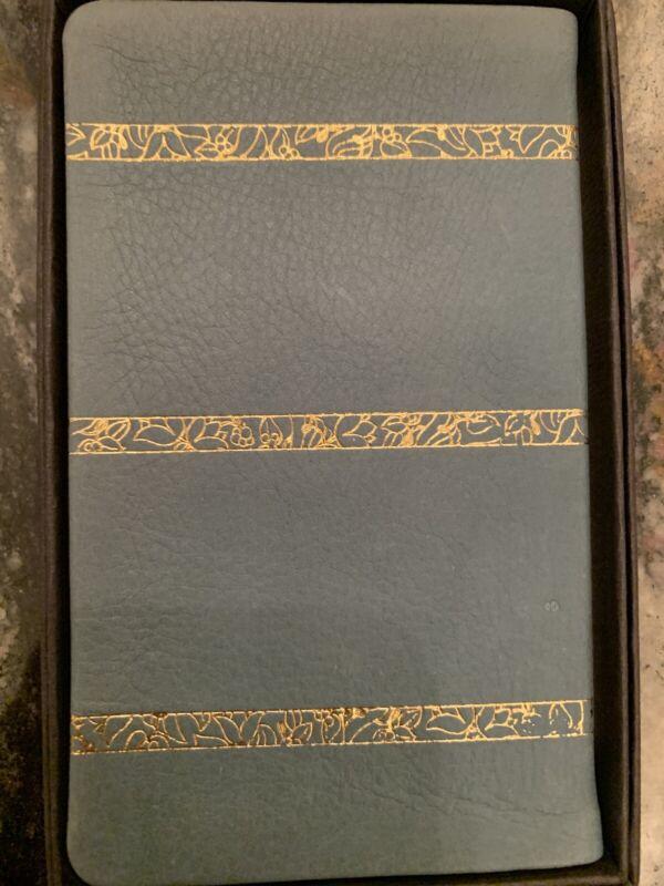 Vintage Michael Graves Leather Light Green 1991 Calendar Pocket Planner book A