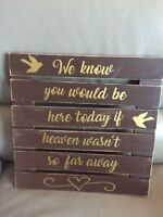 Wedding Sign. For Sale $10