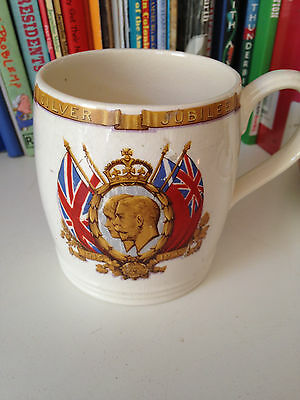 George V & Queen Mary Silver Jubilee Mug Cup Made in England