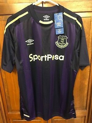 Umbro Everton FC 2017 2018 Football Soccer Third Jersey Men XL Purple Blue $90 image