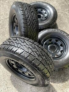 4x 265/70R16 A/T Tyres 95% tread with New Sunraysia wheels Virginia Brisbane North East Preview