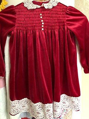 Vintage Nana's Pet Velvet Dress For A Little Girl Size 4T J. C. Penney (Vintage Dresses For Little Girls)