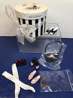 """16"""" Madame Alexander Alex Shoe Sets 3 Pairs Of Heels Purse Gloves Jewelry As Is"""