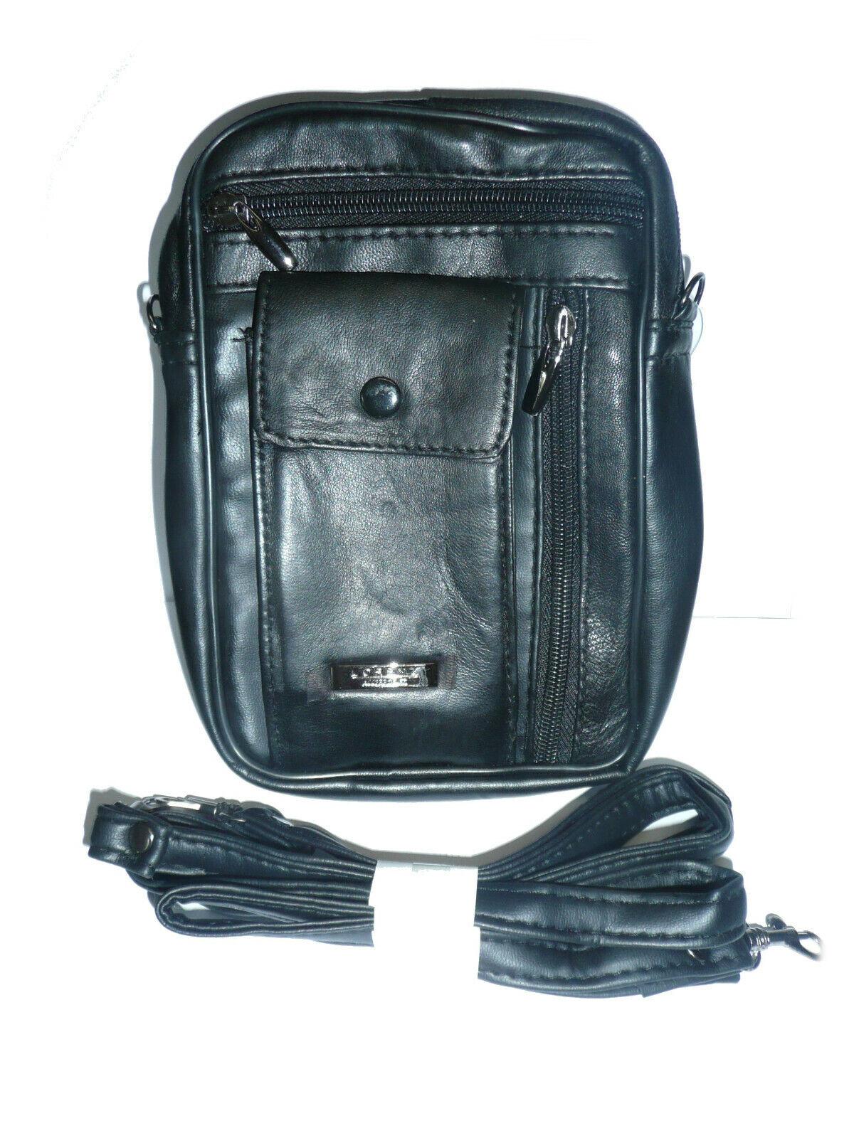 LORENZ  LEATHER Shoulder bag with large phone pocket