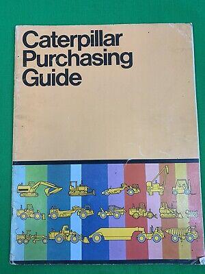 Oem Caterpillar Purchasing Guide Brochure Construction Equipment