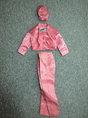Vintage 1963 Mattel Barbie Fashion Pak Pink Satin Bolero Jacket & Trousers