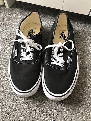 Black Vans Classic Size 10 WORN ONCE