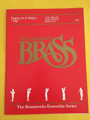 """Fugue In G Major """"Jig"""", J. S. Bach, transcr. Ralph Sauer, Brass Quintet"""
