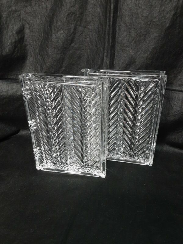 Crystal Book Shaped Bookends