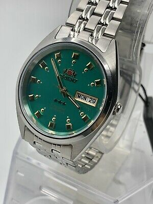New Genuine  Orient Men's  Automatic Silver Watch W/ Box  FAB00009N