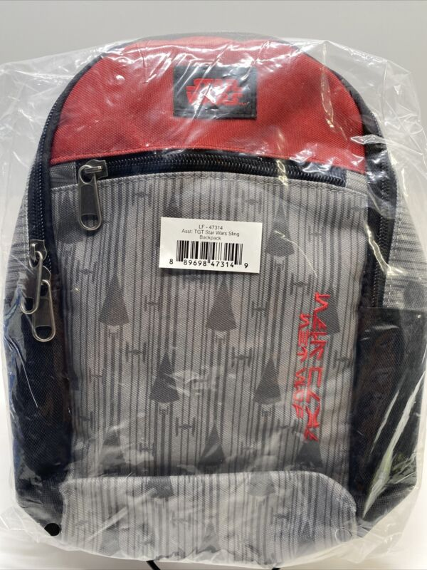 Star Wars Sling Backpack - Red Gray - New Sealed