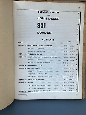 Vtg John Deere 831 Loader Service Manual Sm-2032 1960 Repair Bulldozer