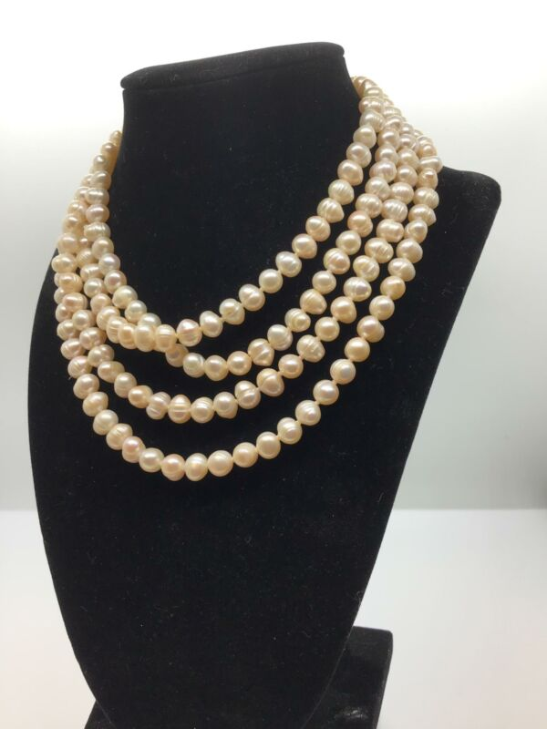 """Vintage 64"""" Pearl Beaded Necklace"""