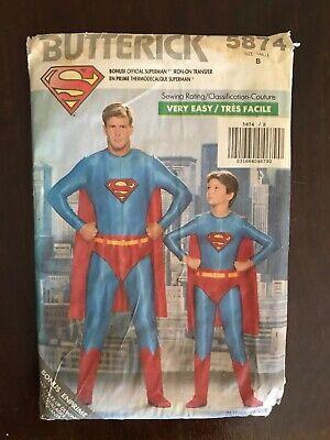 Superman Costume Pattern (Butterick 5874 Boy's Superman Pattern Size B Halloween)