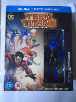 Teen Titans - Judas Contract with Mini Figure [Blu-ray], New & Sealed BULK2
