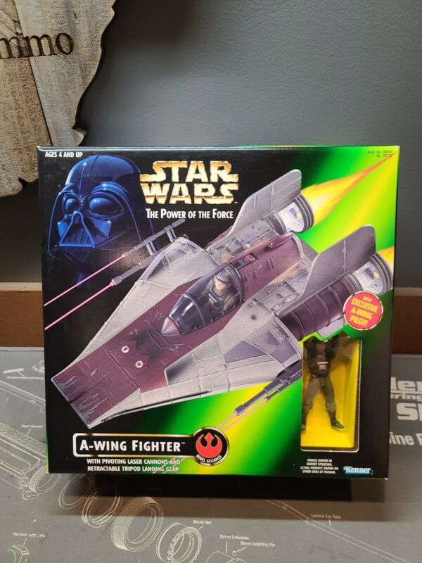 STAR WARS the Power Of The Force A-WING FIGHTER ~1997 Hasbro NIB NEW