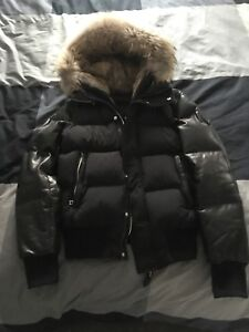 RUDSAK BALE DOWN WINTER JACKET WITH LEATHER