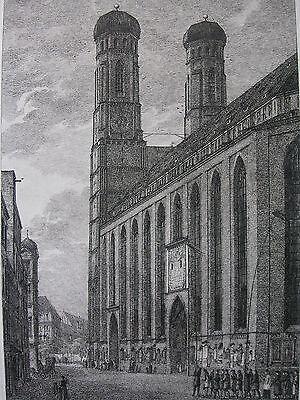 DOMENICO QUAGLIO ´MÜNCHEN, FRAUENKIRCHE, MÜNCHNER DOM´ GROSSE RADIERUNG, 1811