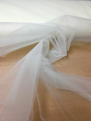 "BEAUTIFUL CREAM SOFT NET DRESS FABRIC 7 METRES 120"" WIDE!,"