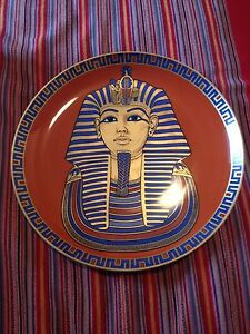 The gold  mask of the Egyptian king tut ankh amun