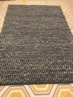 Grey Wool and Cotton Rug