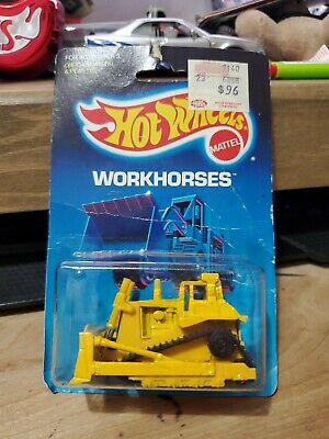 Hot wheels all blue card workhorses cat bulldozer