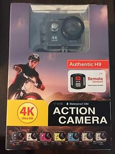 Action cameras 4K , waterproof case , 2 battery's , remote