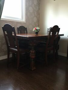 Antique dining room set 1900 Jacobean
