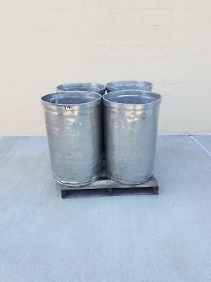 Used Open Top Stainless Steel Drums 4 Pack Lot Number 14