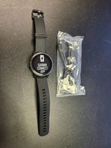 New Garmin Vivoactive 4S GPS Smartwatch Stainless Steel Bezel 40mm Black + More