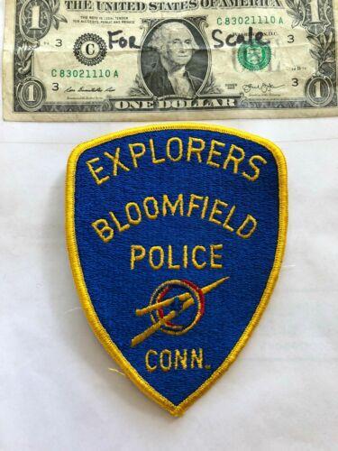 Rare Bloomfield Explorers Connecticut Police Patch Un-sewn great shape