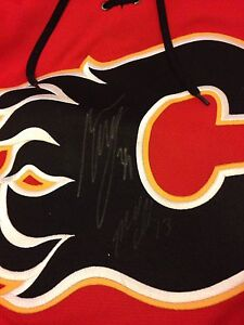 Flames jersey signed (medium) prices can be discussed