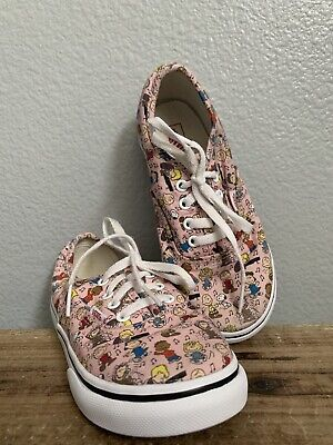 Vans Authentic Dance Party Peanuts Snoopy Pink Laces Shoes Toddler Size 10