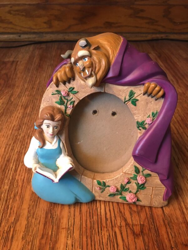 Vintage Beauty and the Beast Ceramic Picture Frame Belle Disney