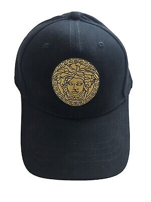VERSACE Mens Cap Black
