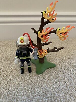 Playmobil 9093 Special Firefighter With Tree