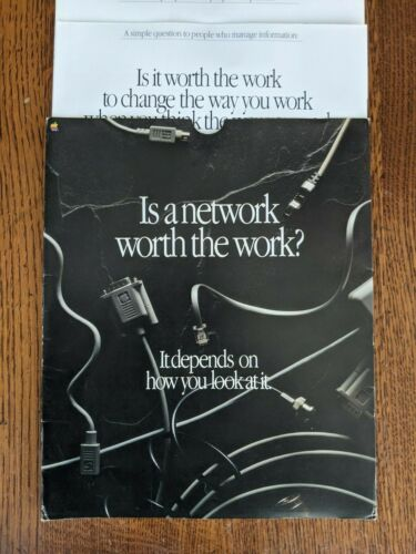 Vintage 1988 Set of 4 Apple Advertising Posters: Is A Network Worth The Work?