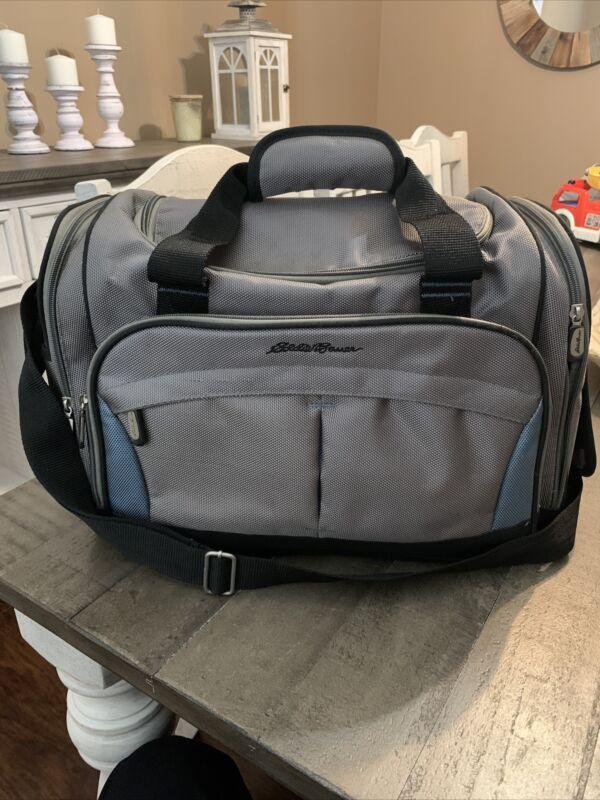 Eddie Bauer Diaper Bag Gray Daddy Man Bag Neutral Storage Pockets Baby Bag.B1