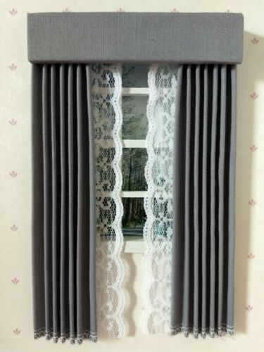Dollhouse Miniature Curtains