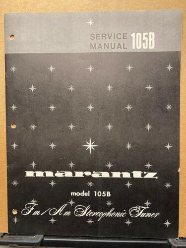 Original Service Manual for the Marantz 105B Tuner ~ Repair