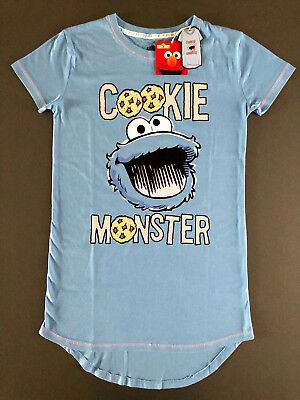Kurzarm-nachthemd (Krümelmonster Damen Nachthemd Pyjama T-Shirt Kurzarm Sleepshirt Cookie XS S M L )