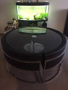 Design Round Dinning Table with 4 curved seats. (NEW IS $1,800) Little Bay Eastern Suburbs Preview