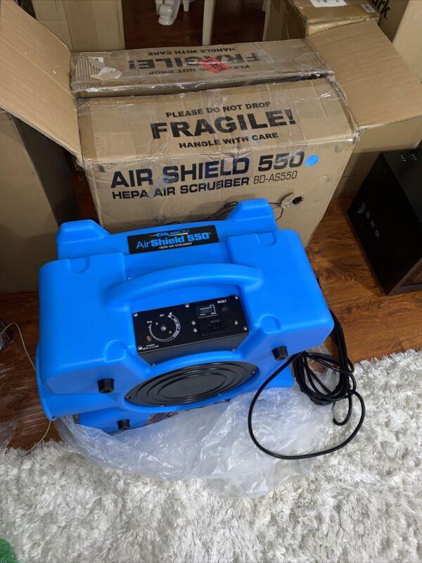 BlueDri BD-AS-550-RED 60 Hz 115 Voltage Air Shield 550 HEPA Air Scrubber BLUE