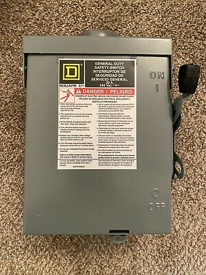 Square D Du221rbup1 30a Non-fusible General Duty Safety Switch Free Shipping
