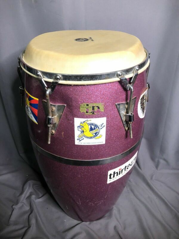Vintage Latin Percussion M. Cohen Purple Fiberglass Conga Drum